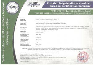 ISO 14001 Çevre Yönetim Sistemi Belgesi